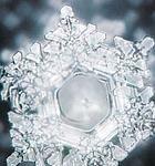 Un cristallo di ghiaccio